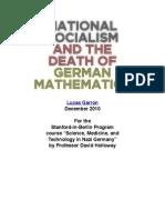 Nazis and Mathematics
