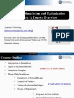 Modeling, Simulation and Optimization