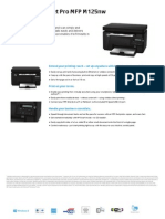 Hp Lasejert Pro Mfp m125 Nw