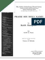 Praise His Holy Name SATB