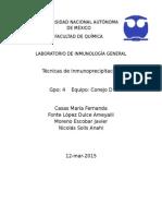 Práctica II Inmunoprecipitación