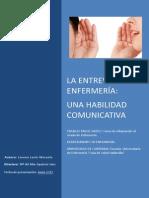 La Entrevista en Enfermería. Una Habilidad Comunicativa. 2013