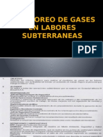 Monitoreo de Gases en Labores Subterraneas