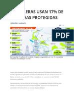 Petroleras Usan 17 %  las areas protegidas Bolivia