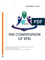 Constitution of SPEL (2015-2016)