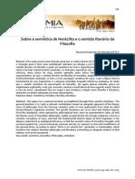 Ancient Philosophy Sobre a Semiotica de Heraclito e o Sentido Literario Da Filosofia Revista Eutomia