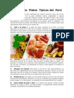 Los Platos Típicos Que Representan Mejor Al Perú en El Mundo Son 10