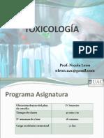 Clase 1 Toxicología