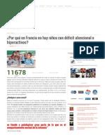 ¿Por Qué en Francia No Hay Niños Con Déficit Atencional o Hiperactivos - Revolución 3.0 Chile