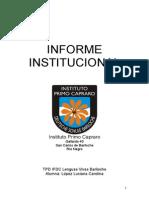 C Lopez TPD - Informe Institucional