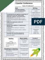 Fall Conferences Sheet 2014