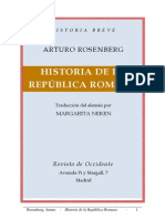 Arturo Rosenberg - Historia de La República Romana