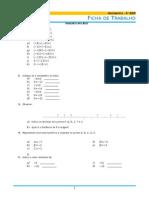 6º Mat - Preparação 4º Teste I