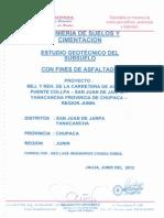 Estudio de Suelos y Geotecnia Collpa - Yanacancha
