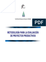 Metodologia INAES Para Eval Proy Prod