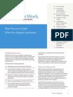 dispute reseloution- fair work