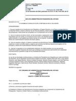 Ley Afi Organica de Admin Finaciera Estado