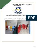 Plan de Manejo de Residuos Solidos y Declaracion 2014 - Rev 2