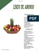 Sulfato de Amonio Disminuye Ph