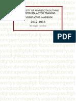 12 - 13 BFA Handbook