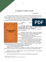 Tâlcuirea apologetică a Canonului 7 Apostolic