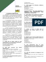 Quinto Grado Examen de Diagnóstico 2015