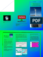 Brochure for wind farm development using GIS