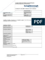 Workplace Health and Safety Assessment Form