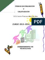 Criterios de Evaluación y Calificación Tecnología..