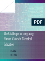 Challenges for  engineering educator of values
