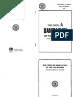 Code on Sanitation - Philippines