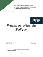 Los Primeros Años de Bolivar