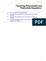 ch 1 - factoring polynomials and polynomial equations
