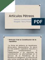 Artículos Pétreos