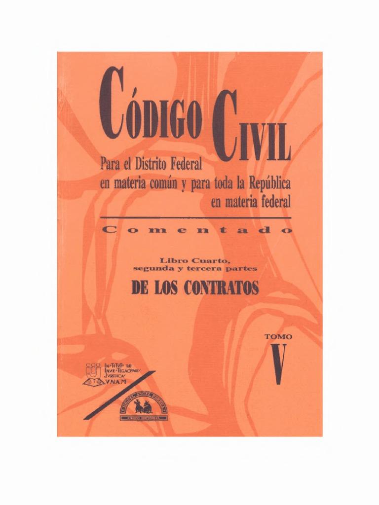 codigo civil mexico Tomo v - Libro Cuarto - II y III Parte ...