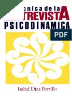 146626238 Diaz Isabel Tecnica de La Entrevista Psicodinamica
