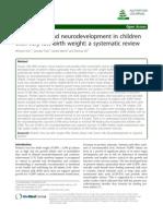 Human Milk and Neurodevelopment in Children With Very Low Birth Weight