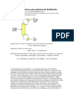 Balance de Materia a Una Columna de Destilación