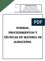 Manual de Procedimientos 2012 Almacen