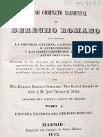 Curso Completo Elemental de Derecho Romano T1