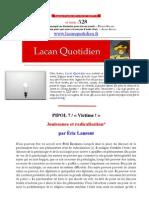 15-07 Politique Eric Laurent Jouissance Radicalisation
