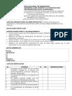 Lista de Chequeo Proyecto Capacitación