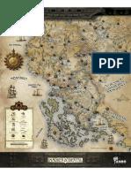 Reinos de Ferro - Immoren Ocidental - Mapa - Biblioteca Élfica