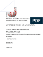Empresa Pública y Empresa Privada