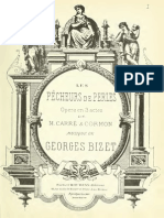 Les pêcheurs de perles (Bizet,Georges) Vocal Score