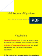 10-6 Systems of Equations