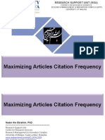 Maximizing Articles Citation Frequency