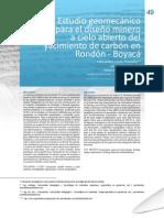 Estudio geomecánico Rondón Boyacá