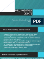 British Parliamentary Debate ppt