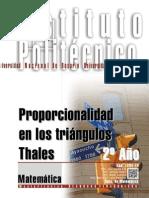 1204-15 MATEMATICA Proporcionalidad en Los Triángulos - Thales